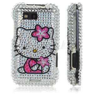HELLO KITTY STAR BLING CASE FOR MOTOROLA DEFY Cell Phones