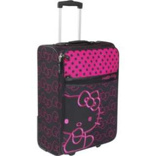 Loungefly Hello Kitty Black & Pink Rolling Luggage Clothing