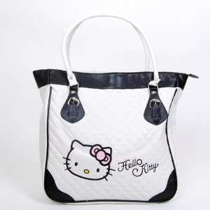 Hello Kitty Zippered Shopping Tote Hand Bag Black