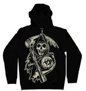 Anarchy SAMCRO TV Show Zip Up Hoodie Sweatshirt:  Clothing