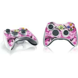 Reef Pink Camo Vinyl Skin for 1 Microsof Xbox 360 Wireless Conroller