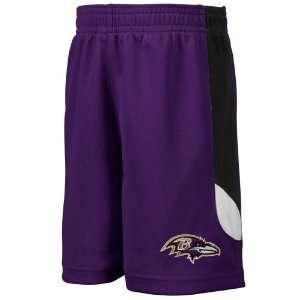 Baltimore Ravens Toddler Kick Off Mesh Shorts   Purple