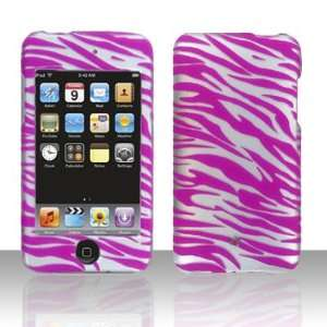 Silver with Pink Zebra Stripe Apple Ipod Touch 2 / 3 2nd