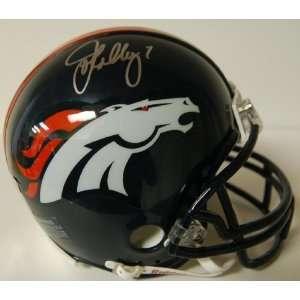John Elway Autographed Denver Broncos Mini Helmet   Autographed NFL