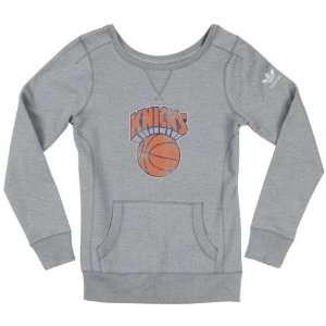 New York Knicks Womens adidas Originals Grey Bigger Retro Logo