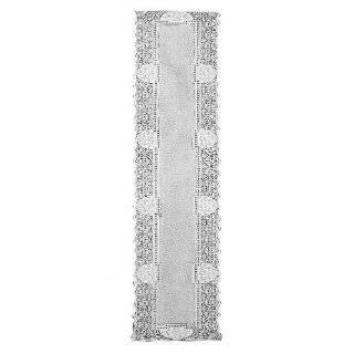 Vintage All Handmade bobbin lace table runner Ecru