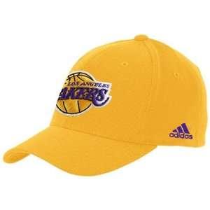 adidas Los Angeles Lakers Gold The Pivot Logo Flex Fit Hat