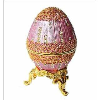 Platinum Multi Colored Crystal Enamel Footed Faberge Style