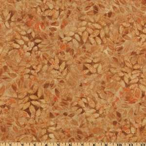 44 Wide Fallen Leaves Burnt Orange Fabric By The Yard