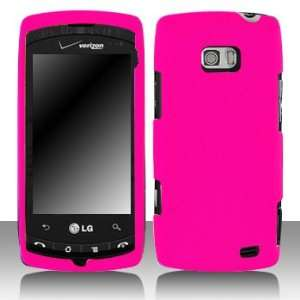 LG VS740 Ally Rubber Hot Pink Case Cover Protector with