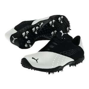 Puma Tour Saddle SL Mens Golf Shoe   White/Black   183018