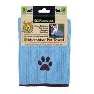 Small Microfiber Pet Towel Light Blue/Brown  Kitchen
