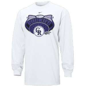 Nike Colorado Rockies White 2007 MLB National League Champions Long