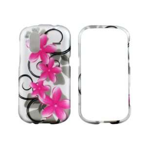 HTC Amaze 4G (T Mobile) Pink Star Flower Case Cover