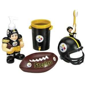NFL Pittsburgh Steelers Football 5 Piece Bathroom Set