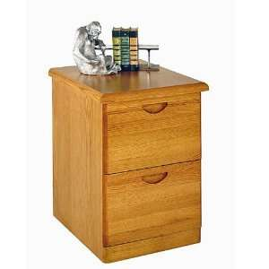 Waterfall 2 Drawer Vertical Wood File Cabinet in Oak: Office Products