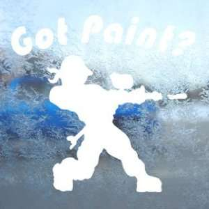GOT PAINT PAINTBALL White Decal Car Window Laptop White