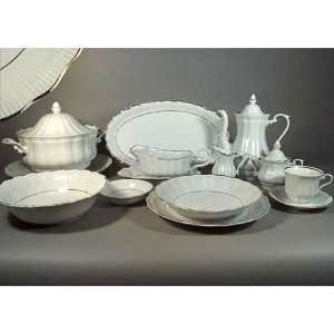 Fine China Dinnerware   Cora Gold   95 pc. Kitchen