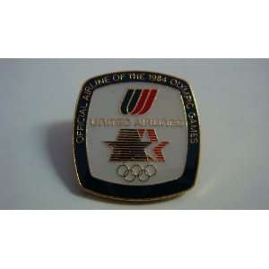 The 1984 Olympic United Airlines Sponsor pin, Small, Gold