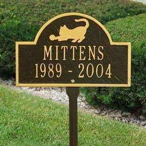 Line Lawn Memorial Plaques in Bronze and Gold Patio, Lawn & Garden
