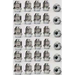 Steel Capped Acorn Bulge Style Lug Nuts For Trailer Wheel Rim 1/2 Lug