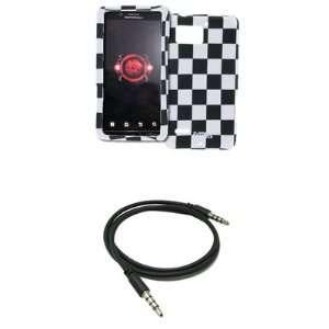 EMPIRE Black and White Checkers Design Hard Case Cover + 3