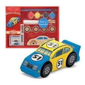 & Doug Decorate Your Own Wooden Race Car  Toys & Games