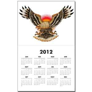 Calendar Print w Current Year Tattoo Eagle Freedom On Sunset
