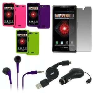 Hot Pink, Neon Green, Purple) + 3.5mm Stereo Earbud Headphones (Purple