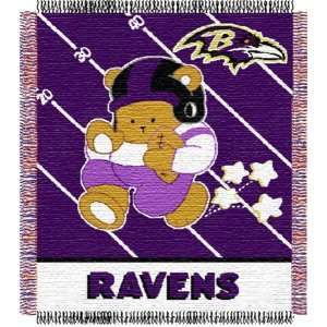 Baltimore Ravens NFL Woven Jacquard Baby Throw Sports