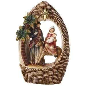 Weave Look Christmas Religious Figurine by Roman: Home & Kitchen