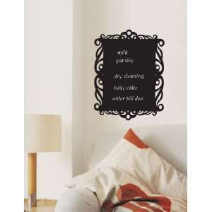 Chalkboard Frame Removable Wall Decal Sticker