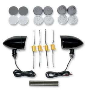 Light Kit with Black Hood Trim Ring and Amber LED EX000514 Automotive