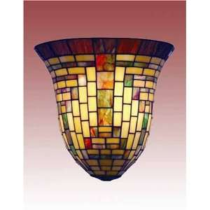 Stained Glass Wall Sconce Lamp Fixture Mission W12159