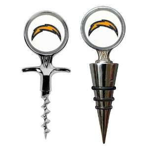San Diego Chargers NFL Cork Screw and Wine Bottle Topper Set