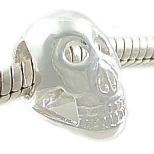 925 Sterling Silver SKULL European Bead Charm for 3mm