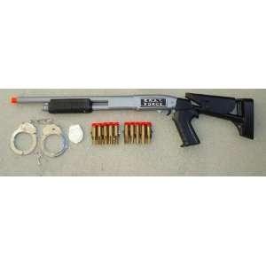 One (1) SWAT Force Pump Action Shot Gun + Metal Handcuffs