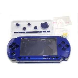 : Blue Front and Back Faceplate Button for Sony PSP 1000: Video Games