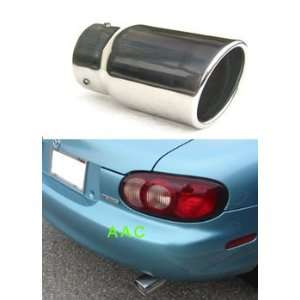 Stainless steel exhaust tip w/ polish finish   Mazda Miata