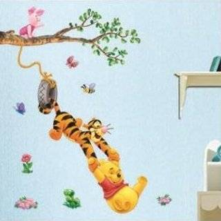 the Pooh & Tigger Peel & Stick Kids Room Wall Art Sticker Decals