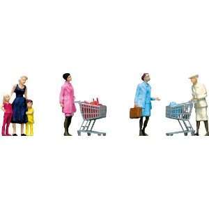 Faller 151035 Supermarket Shoppers & Trolleys: Toys