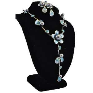 Silver Plated Blue Swarovski Crystal Jewelry Arts, Crafts & Sewing