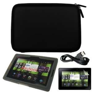 Date Cable + Smoke Silicone Case for Blackberry Playbook Tablet By