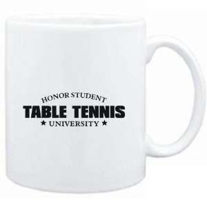 Mug White  Honor Student Table Tennis University  Sports