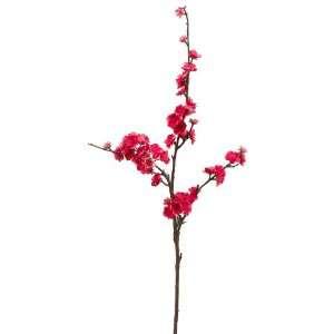41 Silk Plum Blossom Flower Spray  Fuchsia (case of 12