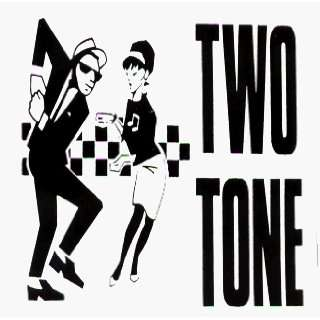 2 Tone   Two Tone   Rude Girl & Rude Boy with Ska Checkers