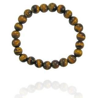 Genuine Tiger Eye Stone 6mm Bead Beaded Stretch Bracelet Jewelry