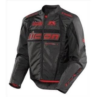 Arc Suzuki Mens Textile Road Race Motorcycle Jacket   Black / Small