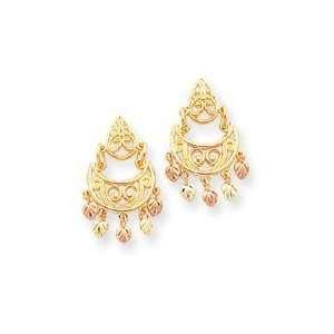 10k Gold Tri color Black Hills Gold Chandelier Earrings Jewelry