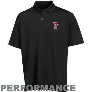 Under Armour Texas Tech Red Raiders Black Performance Polo